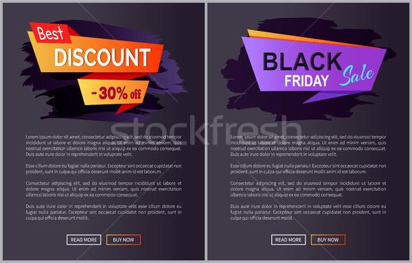 Black friday venda desconto teia Foto stock © robuart