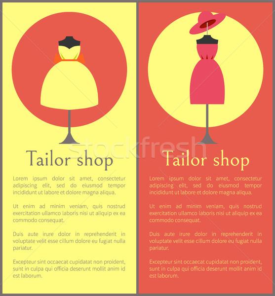 Tailor Shop Framed Banners, Vector Illustration Stock photo © robuart