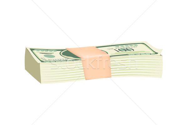 Bundle of Green Dollar Bills Vector Illustration Stock photo © robuart