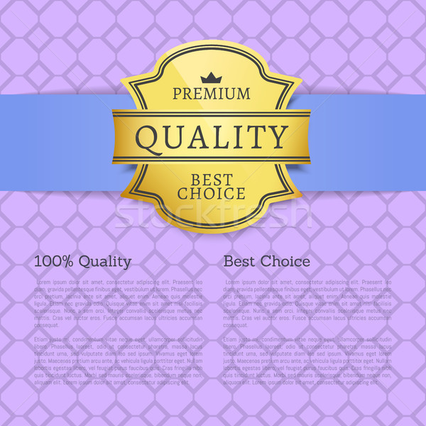 Premium Quality Best Choice 100 Quality Poster Stock photo © robuart