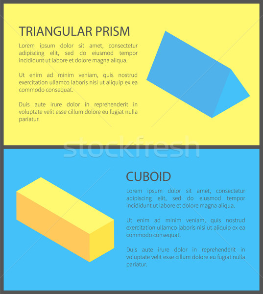 Triangular Prism and Cuboid Geometric Collection Stock photo © robuart