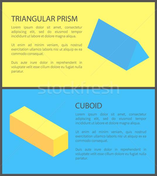 Prisma geometrica raccolta giallo blu nero Foto d'archivio © robuart