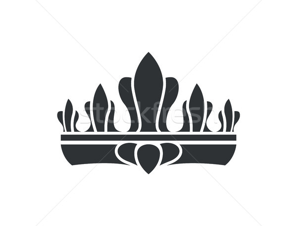 Crown Silhouette Idea Closeup Vector Illustration Stock photo © robuart