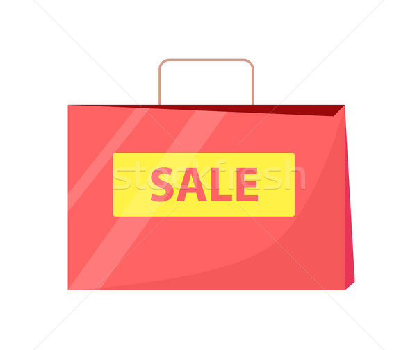 Verkoop zak titel behandelen tekst geschreven Stockfoto © robuart