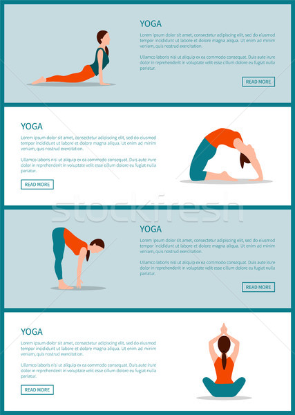 Yoga Internet Pages Collection Vector Illustration Stock photo © robuart