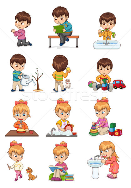 Male and Female Collection Vector Illustration Stock photo © robuart