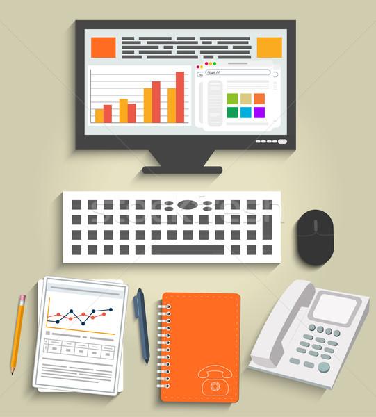 Business work elements Stock photo © robuart
