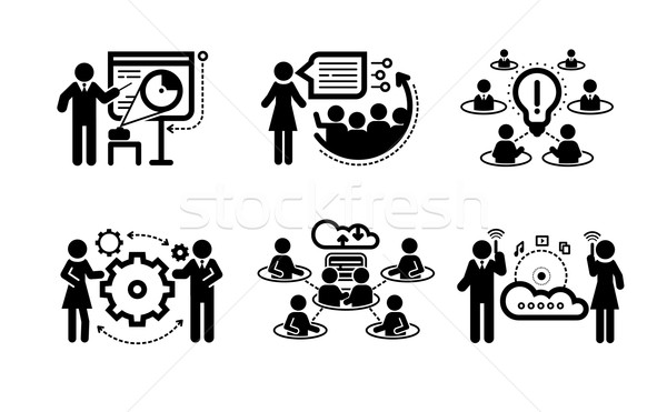 Business presentation teamwork concept icons Stock photo © robuart