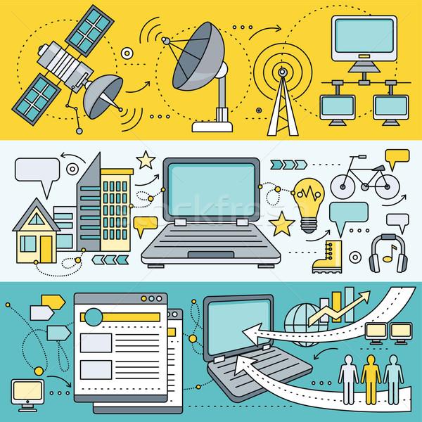 衛星 インターネット グローバル ネットワーク 技術 ワイヤレス ストックフォト © robuart
