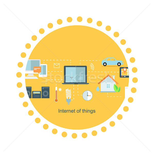 Stock photo: Internet of Things Icon Flat Design