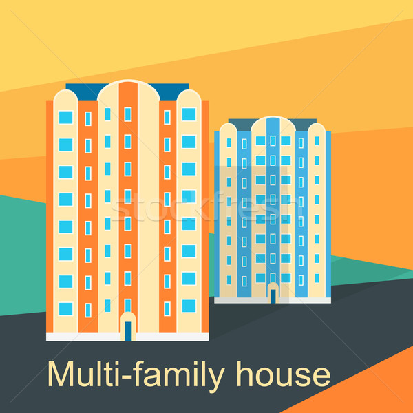 Multi-Family House Design Flat Stock photo © robuart
