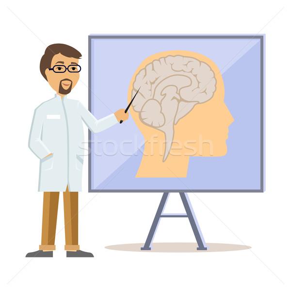 Médico cérebro humano projeto humanismo cabeça Foto stock © robuart