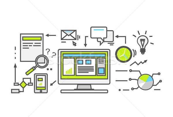 Adat pénzügyi könyvelés stílus ikon üzlet Stock fotó © robuart