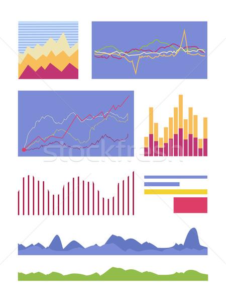 統計値 グラフィック ベクトル コレクション セット ストックフォト © robuart