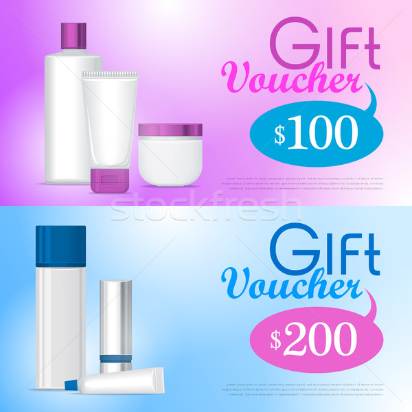 Gift Voucher in Cosmetics Store Design Template   Stock photo © robuart