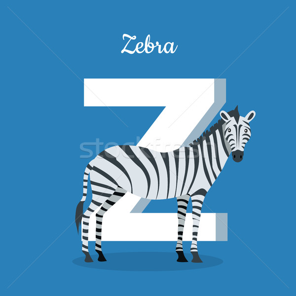 Animal Alphabet Concept in Flat Design Stock photo © robuart
