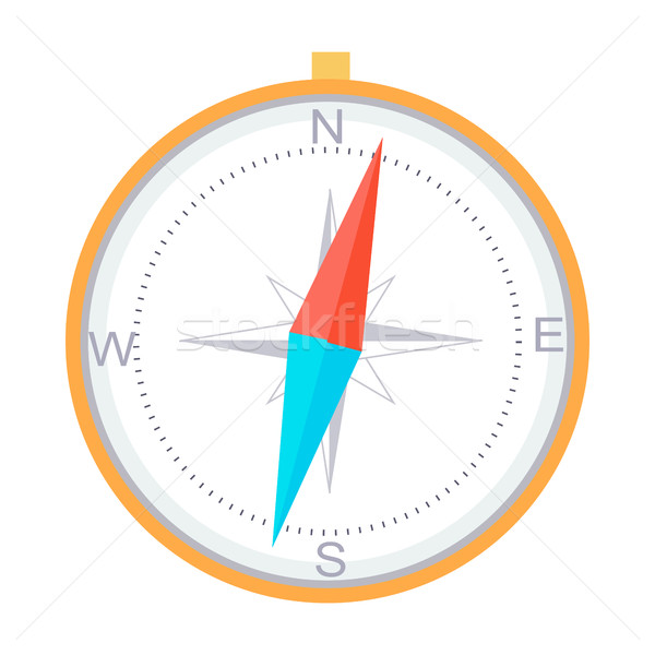 Compass Instrument Isolated Navigation Orientation Stock photo © robuart