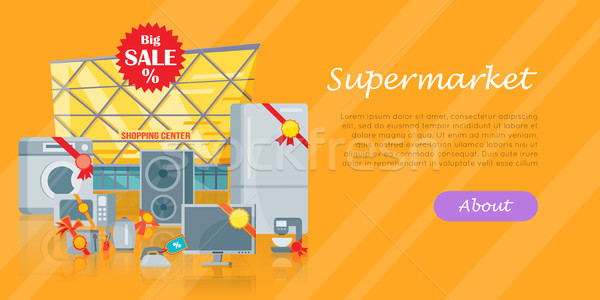 Stock photo: Big sale in Electronics Store Vector Flat Concept