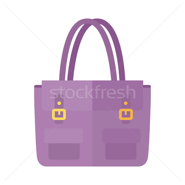 Ladies handbag in flat style. Female bag isolated. Stock photo © robuart