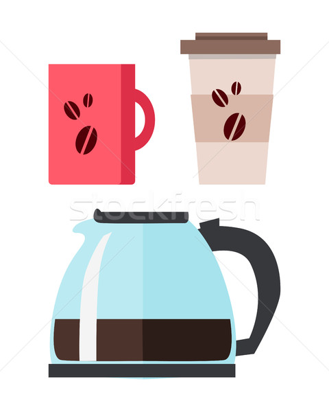 Coffee Maker with Cup Stock photo © robuart