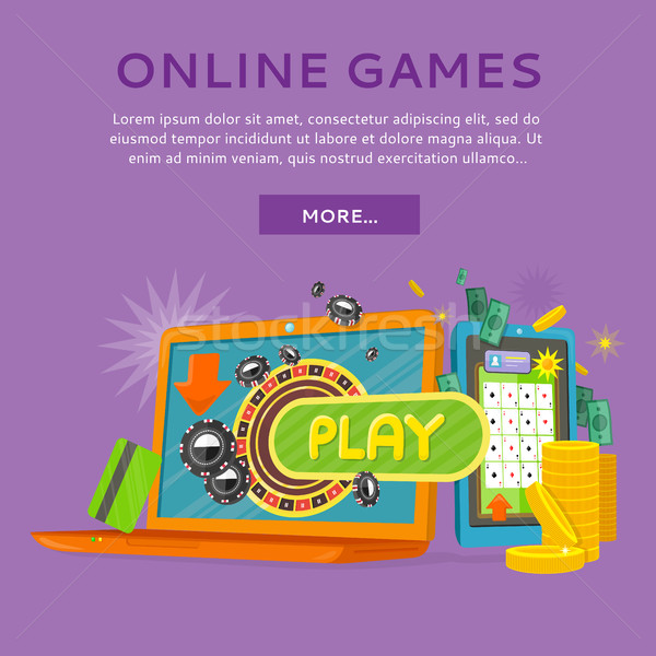 Online Casino on Tablet Computer and Laptop Stock photo © robuart