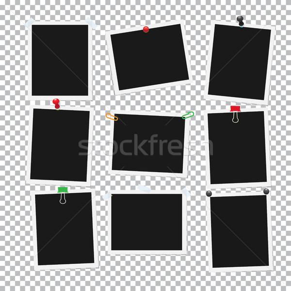 üres fekete csatolva fotók gyűjtemény színes Stock fotó © robuart