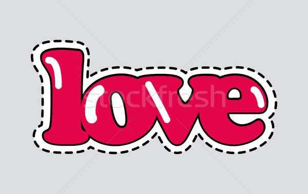 Love Icon with Dashed Line. Romantic Inscription Stock photo © robuart