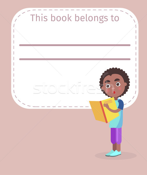 Place for Book Owner Name and African Boy on Cover Stock photo © robuart