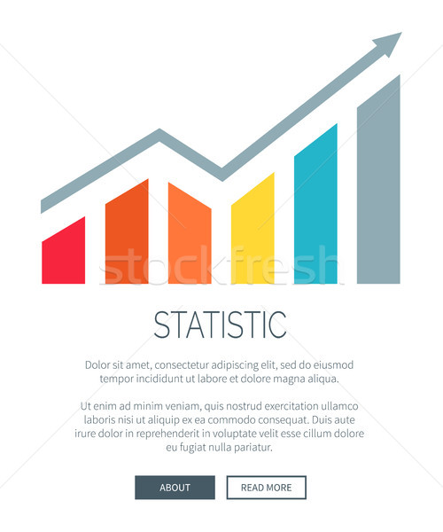 Statistic and Growing Diagram Vector Illustration Stock photo © robuart