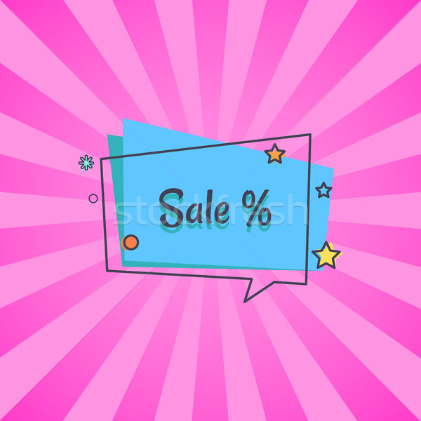 Sale Banner in Square Speech Bubble Star Vector Stock photo © robuart