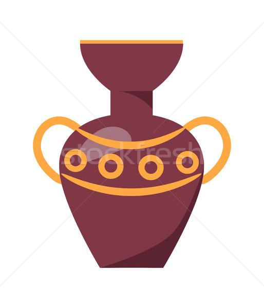 Ancient Greek Vase Isolated Illustration on White Stock photo © robuart