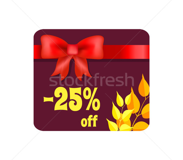 -25 Off Card with Ribbon on Vector Illustration Stock photo © robuart