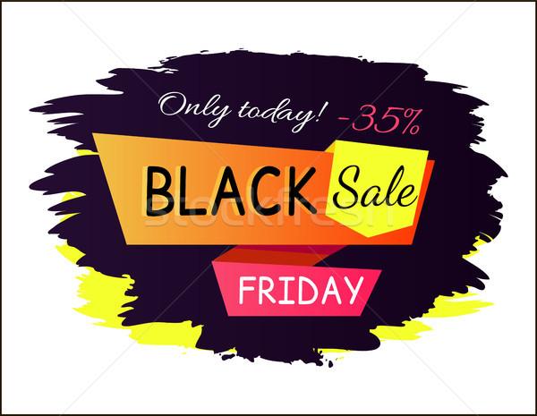 Aujourd'hui black friday vente promo affiche vignette Photo stock © robuart