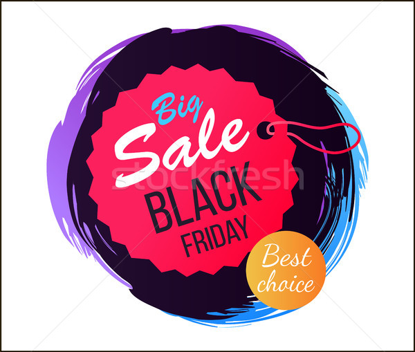 Big Sale Black Friday Best Vector Illustration Stock photo © robuart