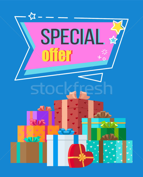 Special Offer Sticker in Abstract Frame with Stars Stock photo © robuart