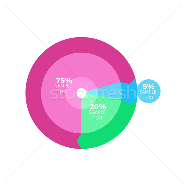 Circled Colorful Infographic Vector Illustration Stock photo © robuart