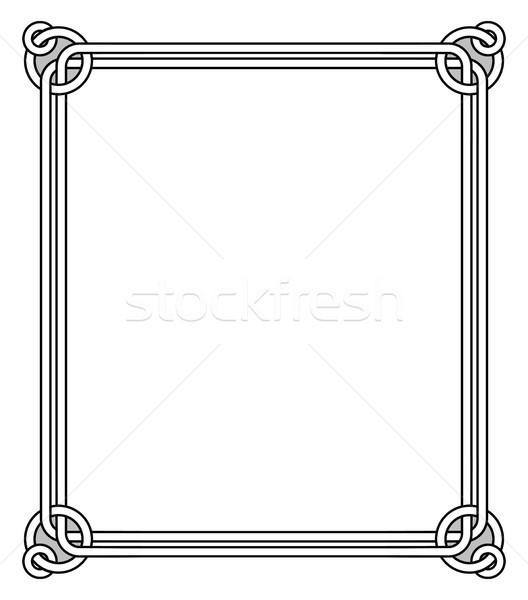 Ornamental Frame with Vintage Decor Round Elements Stock photo © robuart