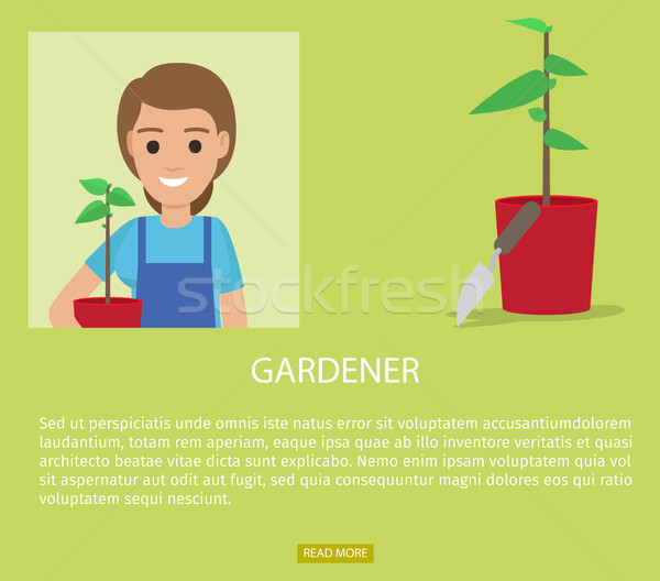 Stock photo: Gardener Advertisement Web Page Vector Banner
