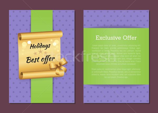 ünnepek legjobb exkluzív ajánlat szalag arany Stock fotó © robuart