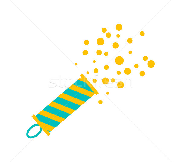 Firecracker Icon on Poster on Vector Illustration Stock photo © robuart