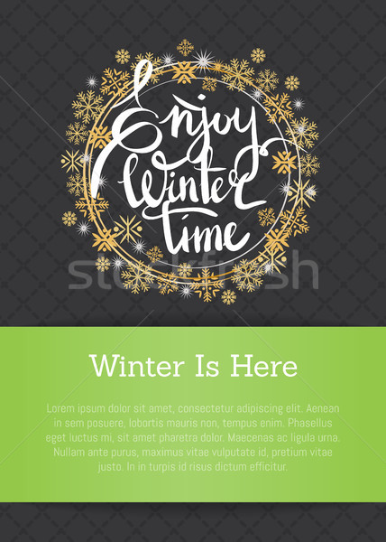 Enjoy Winter Time Inscription Written in Frame Stock photo © robuart