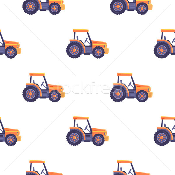 Excavator Tractor Vehicle Seamless Pattern Texture Stock photo © robuart