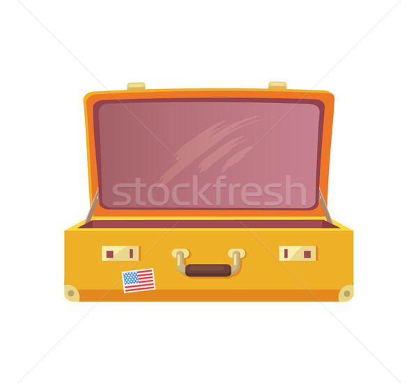 Vintage Luggage Case Travelling Concept Flat Style Stock photo © robuart