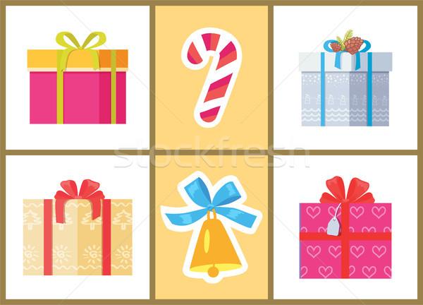 Caixa decorado fita doce doce pacote Foto stock © robuart