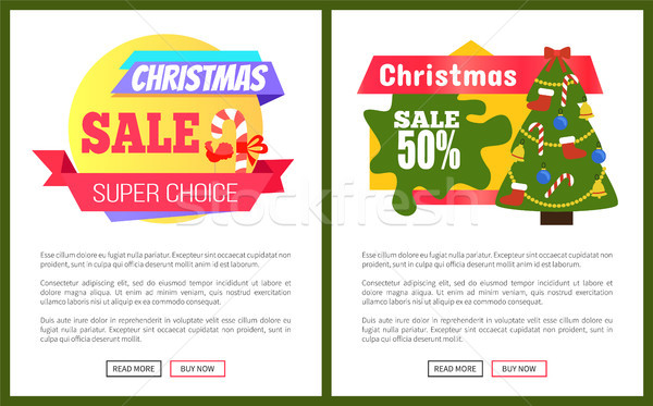 Noël vente cartes annonce nouvelle année Photo stock © robuart