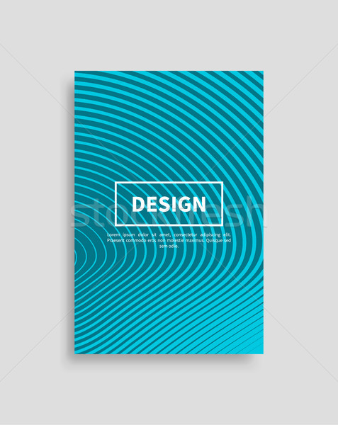 Design coprire movimento linee futuristico sfondo Foto d'archivio © robuart
