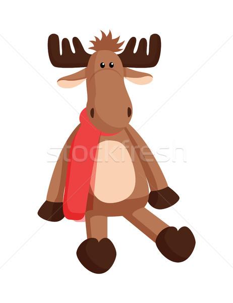 Rendier speelgoed fabriek kerstman christmas Stockfoto © robuart