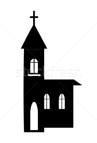 Church Building Silhouette Vector Illustration Stock photo © robuart