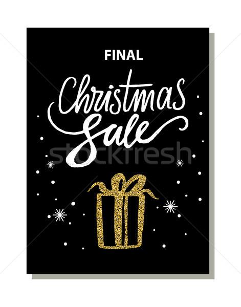 окончательный Рождества продажи баннер изображение настоящее Сток-фото © robuart