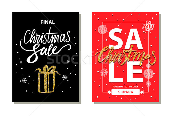 Christmas Sale Limited Time Vector Illustration Stock photo © robuart